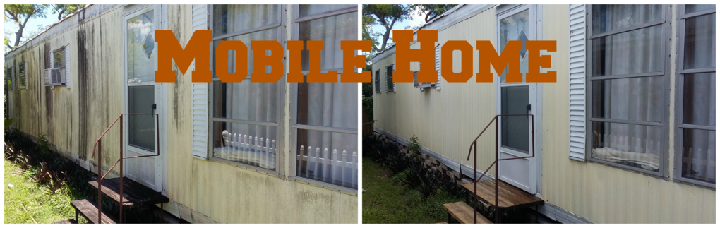 Mobile home washing