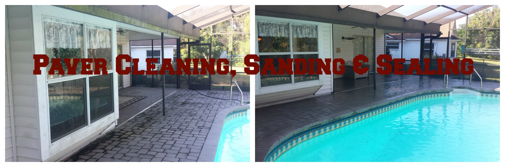 Brick Paver Cleaning sanding sealing