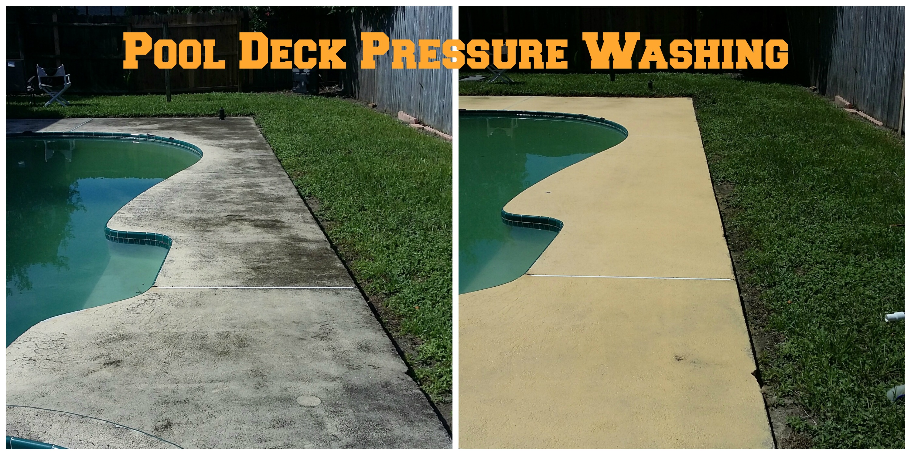 pool deck before and after cleaning image